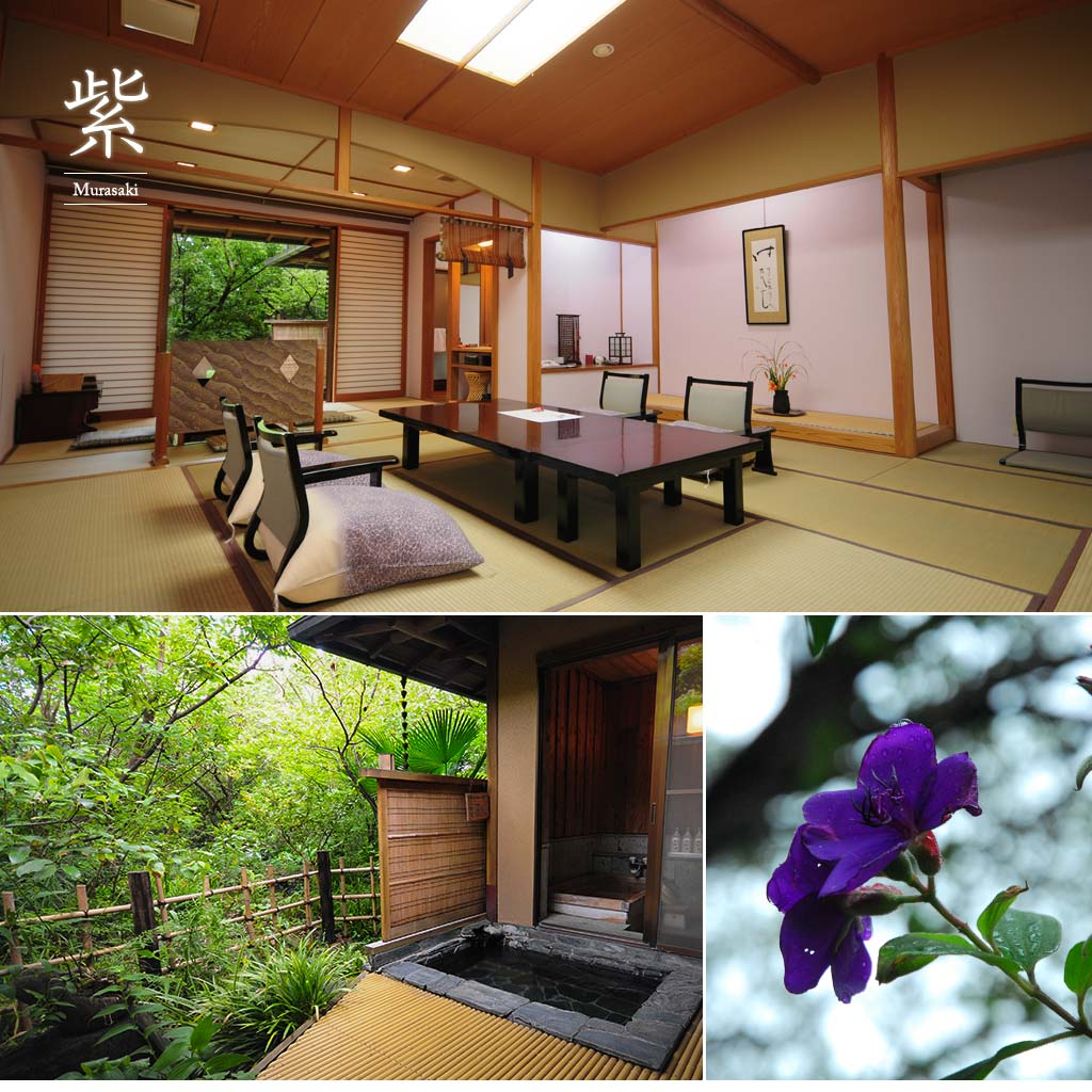 Guest room with Open-Air Onsen「紫(MURASAKI)」